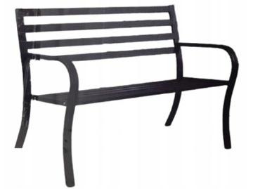Садовая металлическая скамейка Black Gardenic