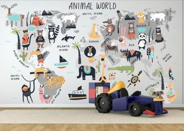 Изготовленный на заказ фотообои для детей, карта мира, сафари
