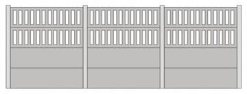 Бетонный забор тип C - 1:87 H0