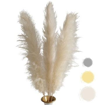 Декоративная сушеная трава для пампасов 120см БЕЛАЯ