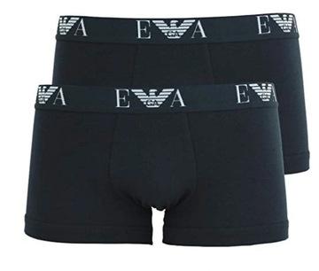 EMPORIO ARMANI bokserki męskie czarne L 2 pack
