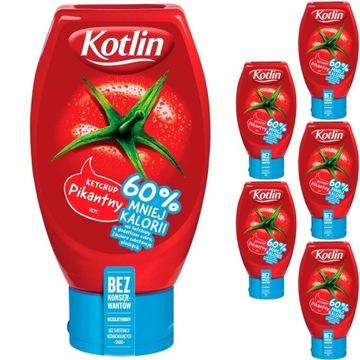 Kotlin Ketchup острый на 60% меньше калорий 6x450г