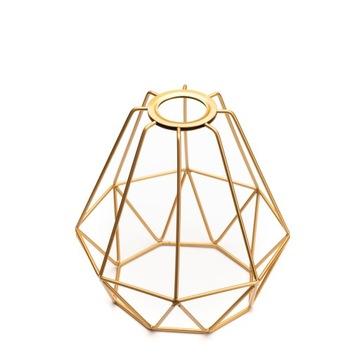 Абажур из металлической проволоки GOLDEN Diament Premium LOFT