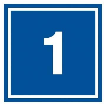 Табличка №1 ПВХ 10х10