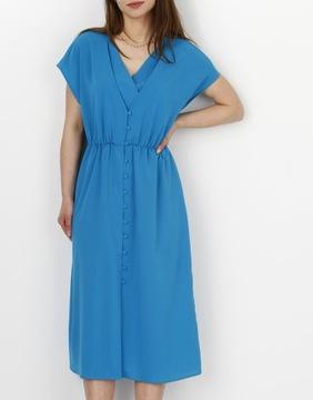 MOHITO Sukienka z kopertowym dekoltem r.38
