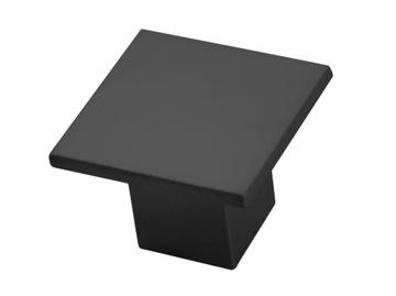 Ручка мебельная квадратная матовая черная GM-315