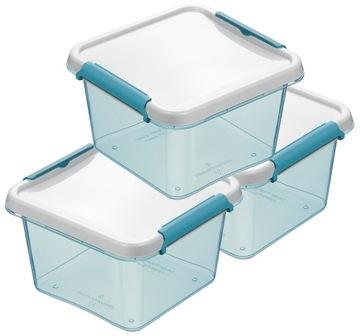 Пластиковые контейнеры для пищевых продуктов 850 мл SET 3 PCS