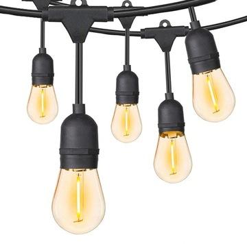 Garden GIRLAND 20mb +40 E27 светодиодные лампы водостойкие