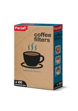 Универсальные фильтры для кофе Paclan, размер 4 / 100шт