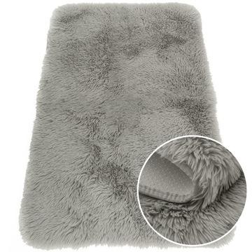 Модный детский коврик, толстый кролик, серый 120х160