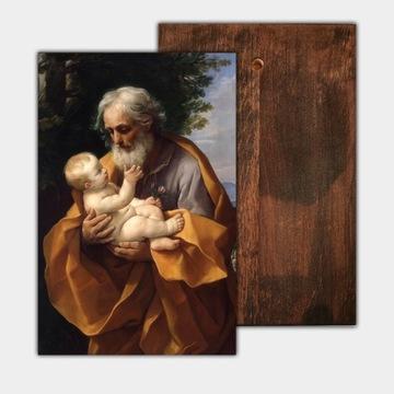 Икона св. Иосиф с младенцем Иисусом, 20 x 30 см