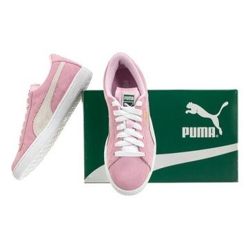 Buty damskie Puma Suede JR 35511003 czerwony beżowy biały