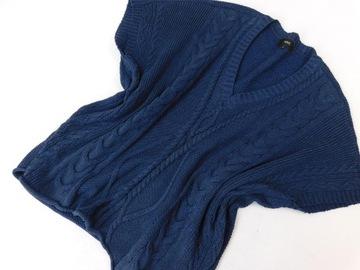 3108d1 NEXT sweter GRANATOWY błyszczący M