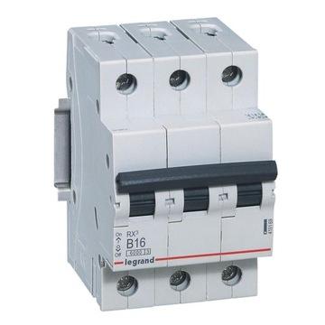 Автоматический выключатель RX3 B16 3P Legrand