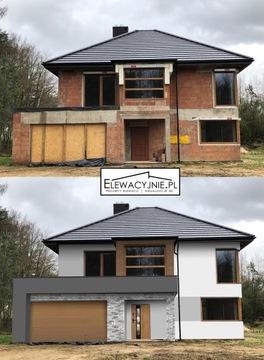 Дизайн фасада - визуализации на фото