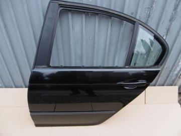 ДВЕРЬ ЛЕВАЯ Задние BMW E46 sedan black sapphir 475/9