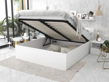 Кровать приподнятая PANAMA 140x200 + белый матрас