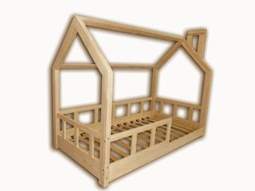 Кровать детская, домик 200х120 рельсы + каркас