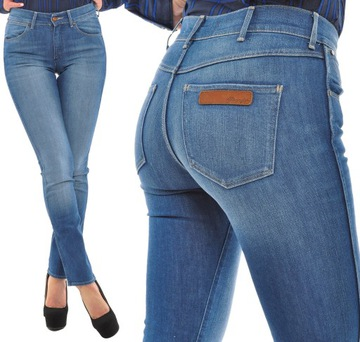 WRANGLER spodnie regular SLIM blue CAITLIN W24 L32