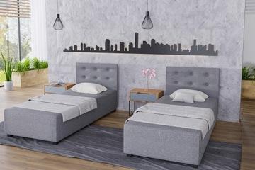 Односпальная кровать, мягкий уголок, стеганое изголовье