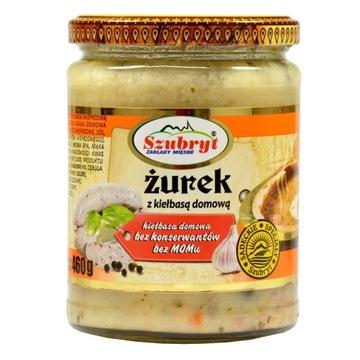 Суп ржаной кислый 460г в банке с сосисками без консервантов