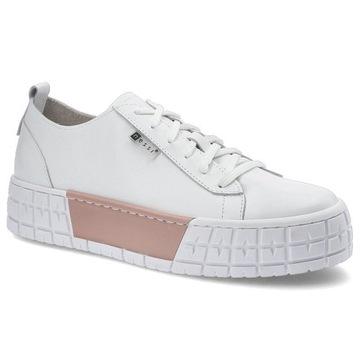 Białe Sneakersy Nessi Damskie Stylowe Obuwie