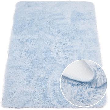 Модный детский синий плотный коврик в виде кролика 60х100