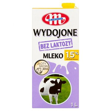 Готовое молоко без лактозы UHT 1,5% 1 л