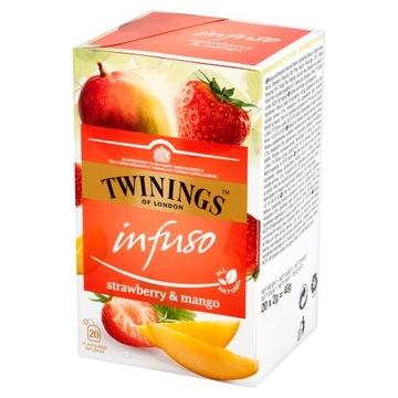 Чай Twinings Infuso клубника и манго 20 штук