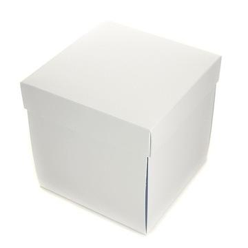 Взрывающаяся коробка, основание 14 см, большая БЕЛАЯ коробка
