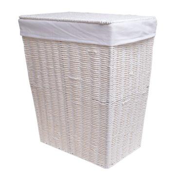 Купить Плетеная белая корзина для белья для ванной на Otpravka - цены и фото - доставка из Польши и стран Европы в Украину.