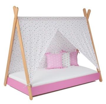 Деревянная кровать 80x180 матрас TIPI 9 см - розовый