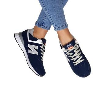 Buty Damskie Adidasy Sneakersy Sportowe Szare r.38