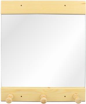 Зеркало для сауны из дерева, крючки для полотенец