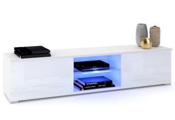 Белая тумба под ТВ GLORIA Standing High Gloss LED