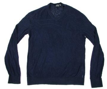 ** ARMANI EXCHANGE **_XL_Lekki, Haftowany sweterek