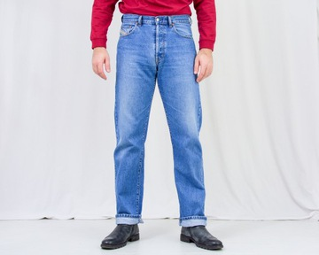 Diesel jeansy niebieskie VINTAGE spodnie W34 L34