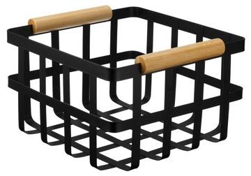 Корзина-органайзер металлический контейнер 21х21см черный