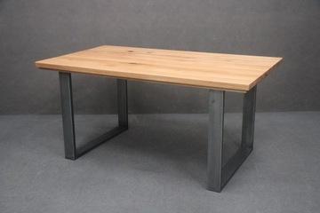 Деревянный стол, Дуб + Металл, Массив дуба 90 x 160 см