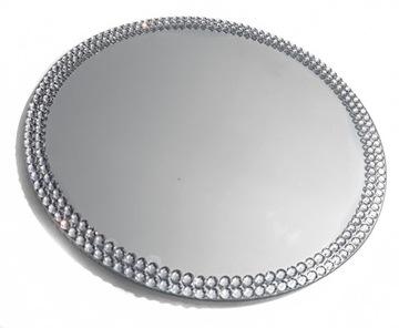 Зеркальный поднос с фианитом 30 подсвечник