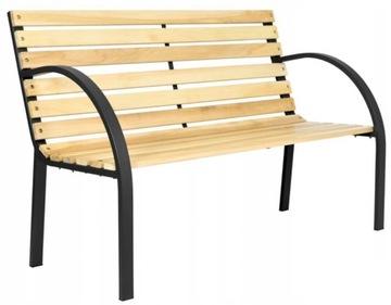 Деревянная балконная садовая скамейка 120см