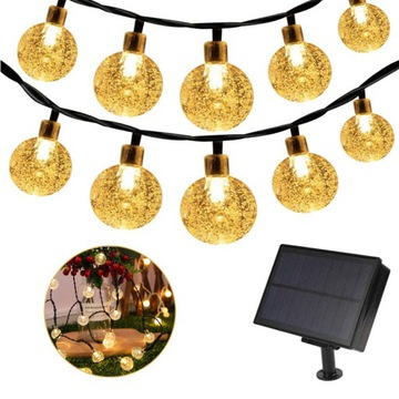 Светодиодная солнечная гирлянда, садовые фонари, 100 светодиодных шаров