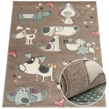 Модный детский коврик, толстый, плотный узор 80 х 150 см.