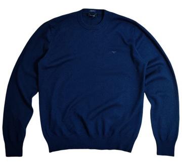 Sweter ARMANI JEANS Wełniany Premium M Logo