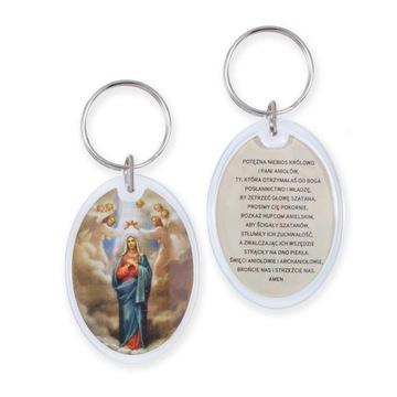 Брелок Богоматерь Ангелов с молитвой экзорцизма