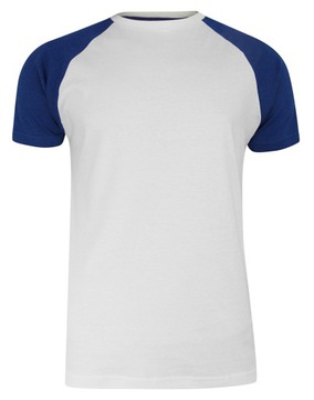 Biało-Granatowy Męski T-shirt Brave Soul- L