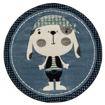 Модный детский коврик плотный плотный круглый 120 см.