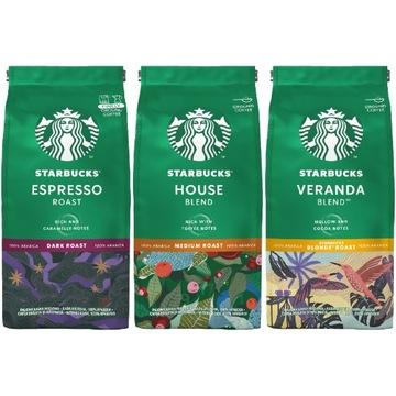 Набор молотого кофе Starbucks Arabica MIX 3x 200г
