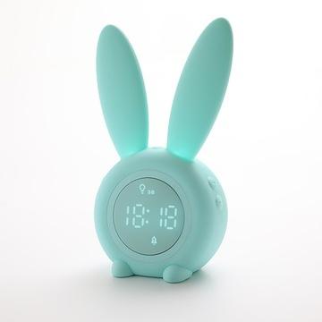 Цифровой будильник с милым кроликом, светодиодный ночник