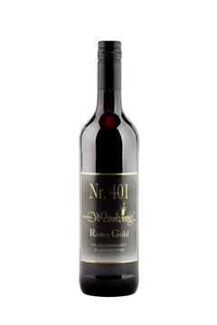 Красное полусухое безалкогольное вино Rotes Gold